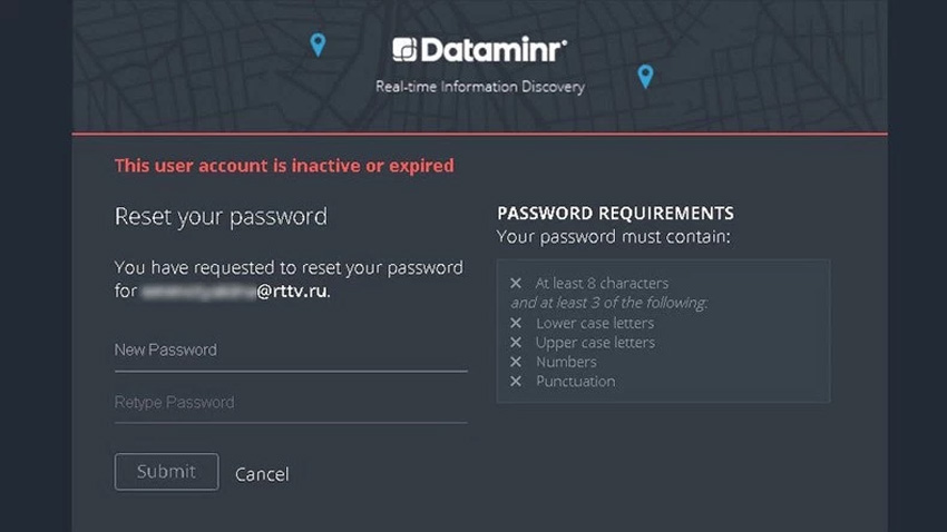 RT's access to Dataminr Twitter tool revoked