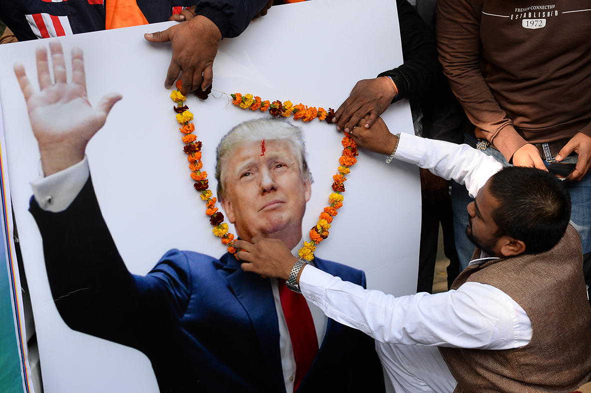 Trump global reactions