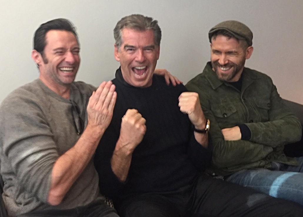 Hugh Jackman, Pierce Brosnan and Ryan Reynolds