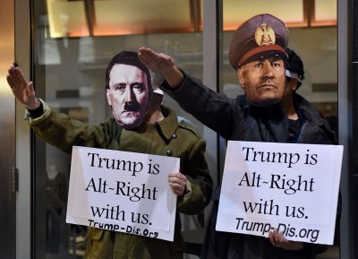 Anti Trump protests not my president