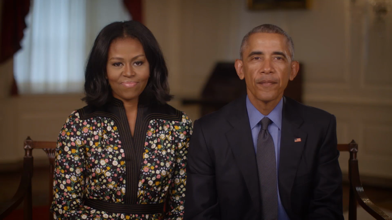 Michelle and Barack Obama say the're 'finally going to get some sleep'