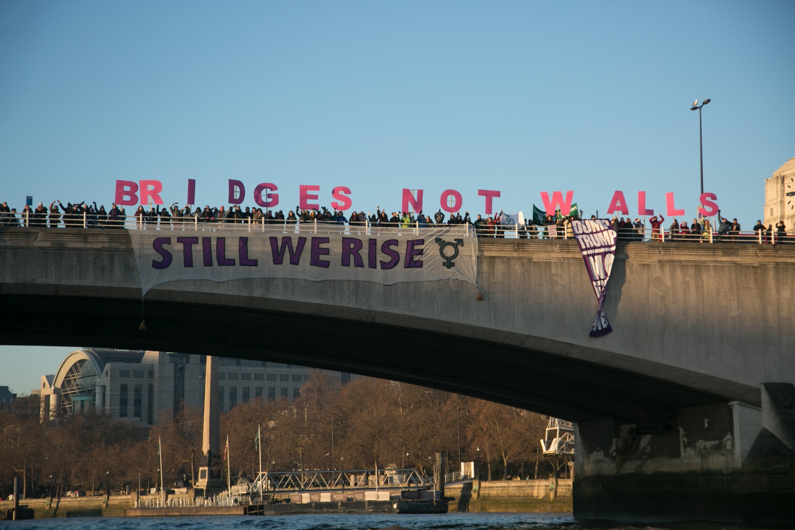 'Bridges Not Walls' Protests Take Place Across Britain