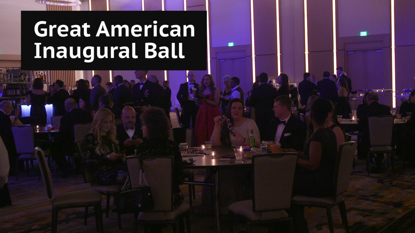 Great American Inaugural Ball: Donald Trump supporters celebrate in Washington DC