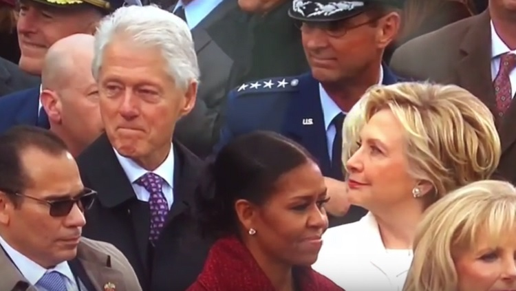 Bill Clinton caught in act
