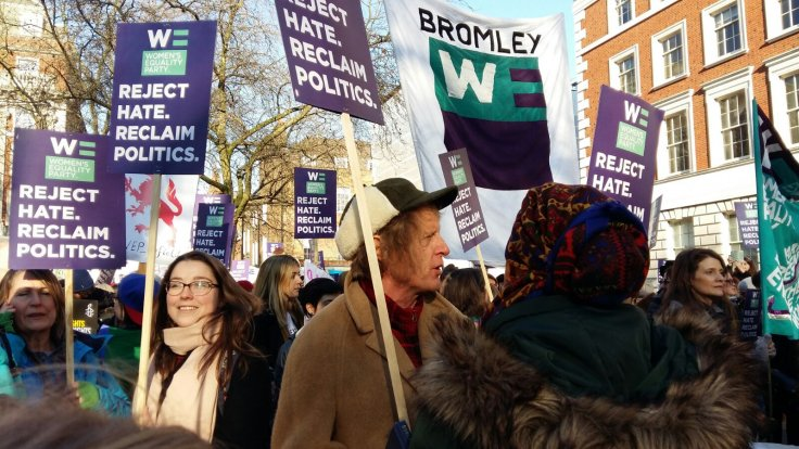 Grayson Perry marched alongside the Women's Equality Party