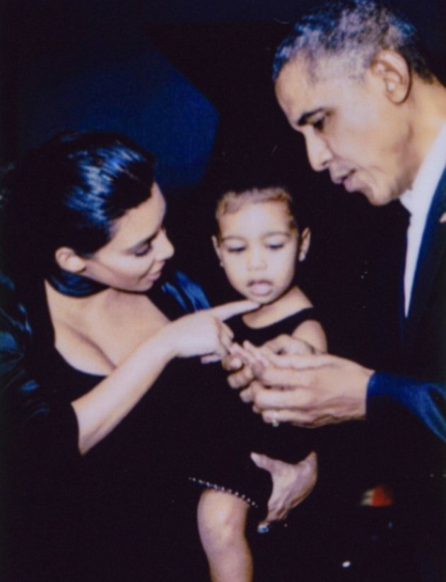 Obama with Kim Kardashian and North West