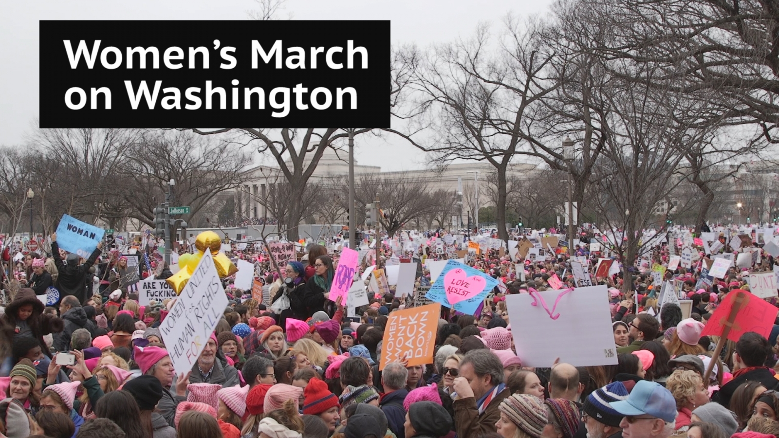 Hundreds of thousands march in Women's March on Washington
