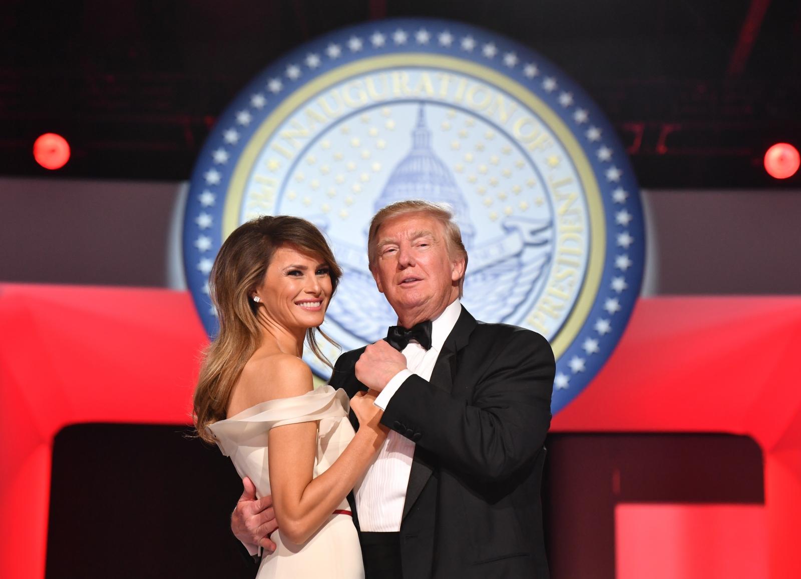 Melania Trump and Donald Trump 2017