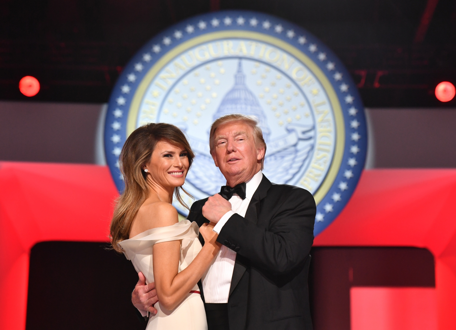Melania Trump and Donald Trump 2017
