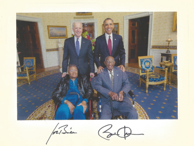 Richard Overton with Barrack Obama