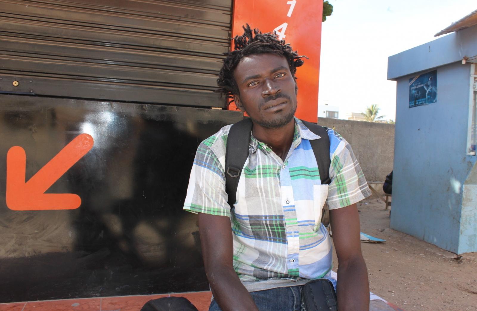 Gambian refugee Alagie Sowe