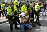 Bogota Colombia bullfighting protests
