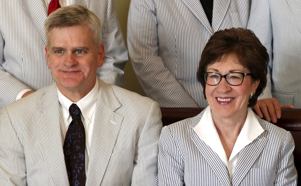 Sentaors Bill Cassidy and Susan Collins