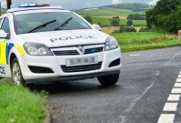 Police car road