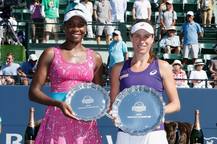 Venus Williams and Johanna Konta