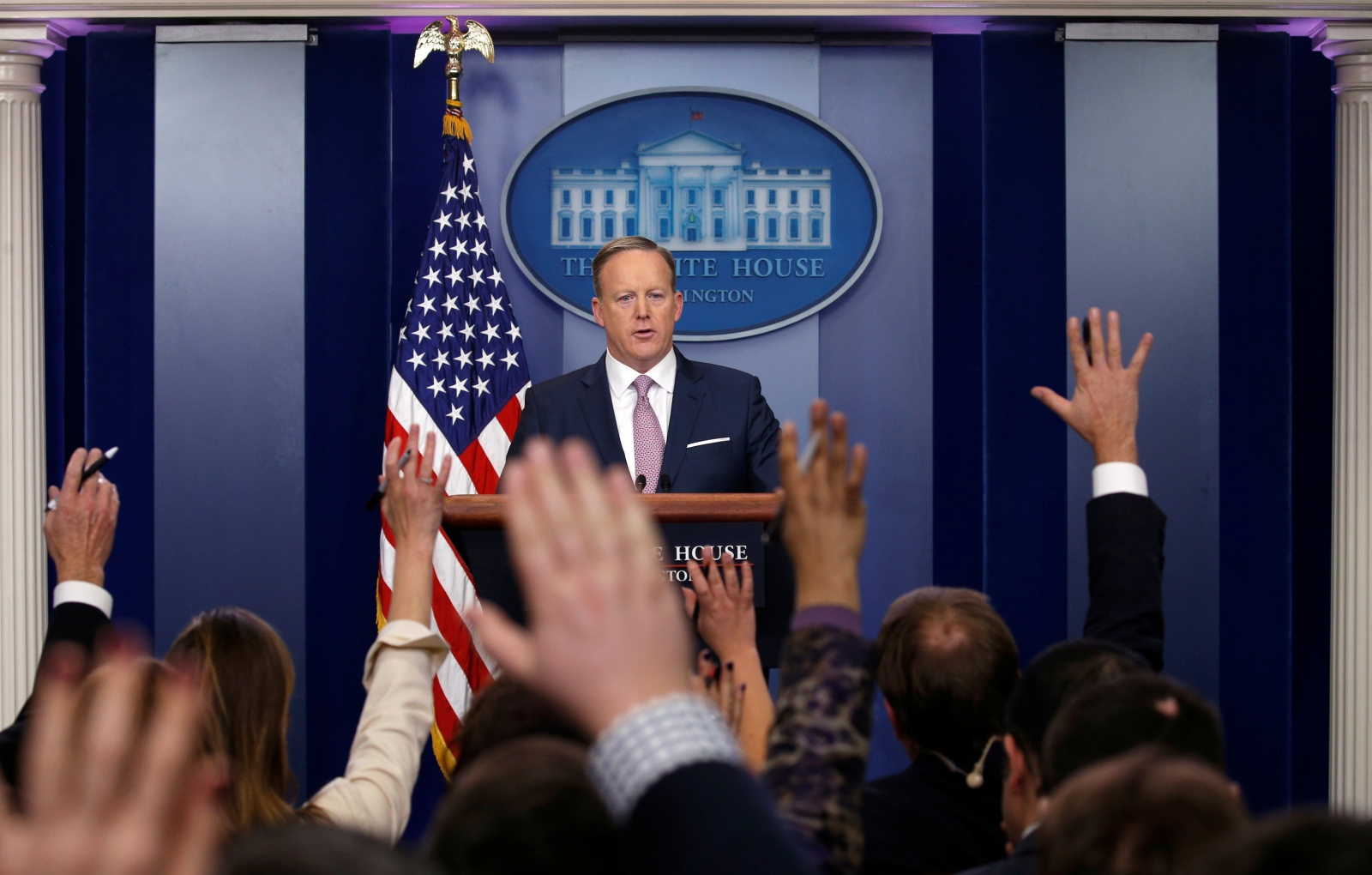 Sean Spicer Continues To Battle Press And Announces