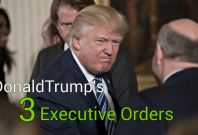 President Donald Trump Signs 3 Executive Orders On His Third Day In Office