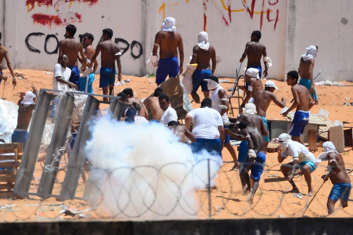 Brazil drugs gangs prison riots