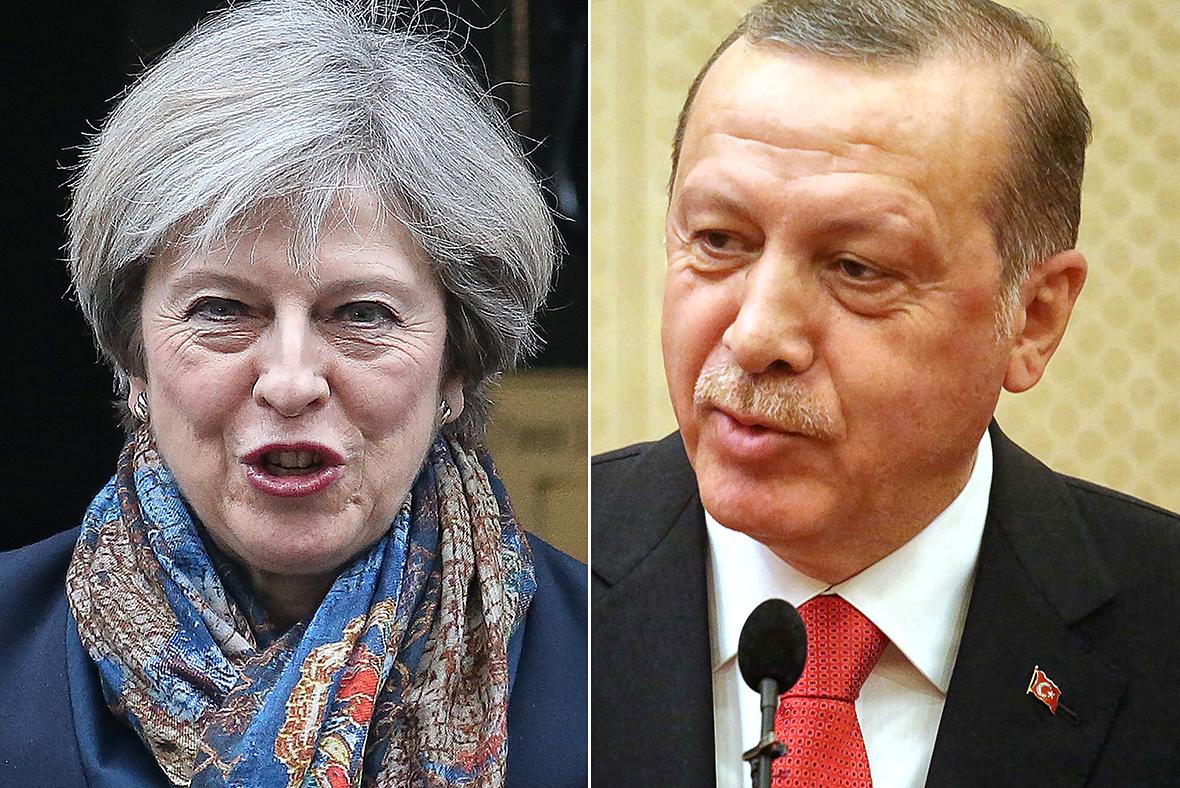 Theresa May, Recep Erdogan