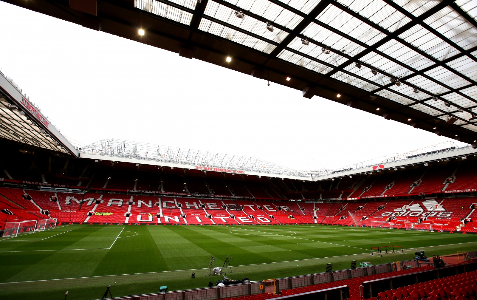Fire breaks out at Manchester United's Old Trafford stadium