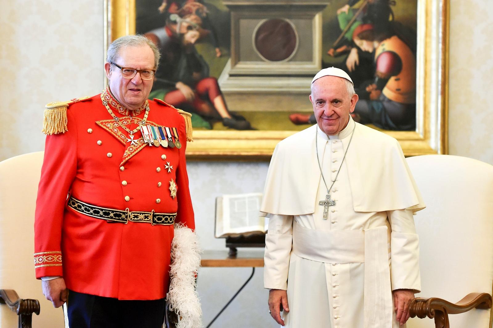 Robert Matthew Festing, Pope Francis