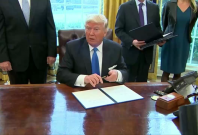 President Trump could sign executive orders to ban refugees, build Mexico wall
