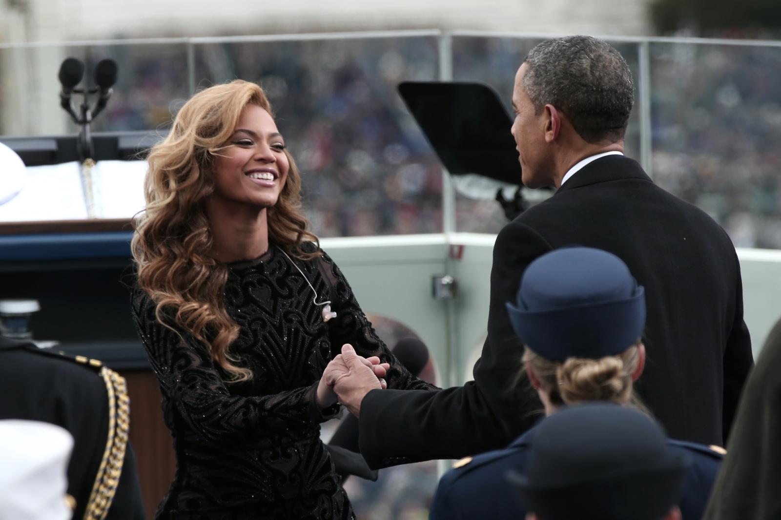 Beyoncé Knowles and Barack Obama