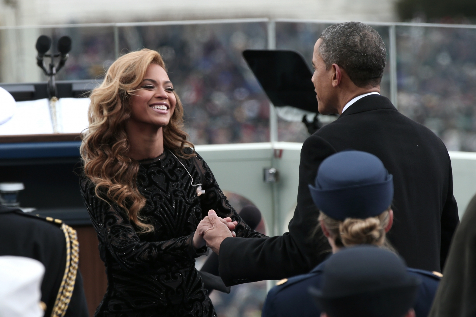 Beyoncé Knowles and Barack Obama