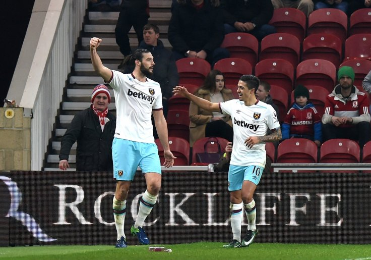 Andy Carroll and Manuel Lanzini