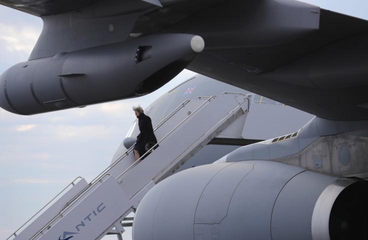 Theresa May visits US