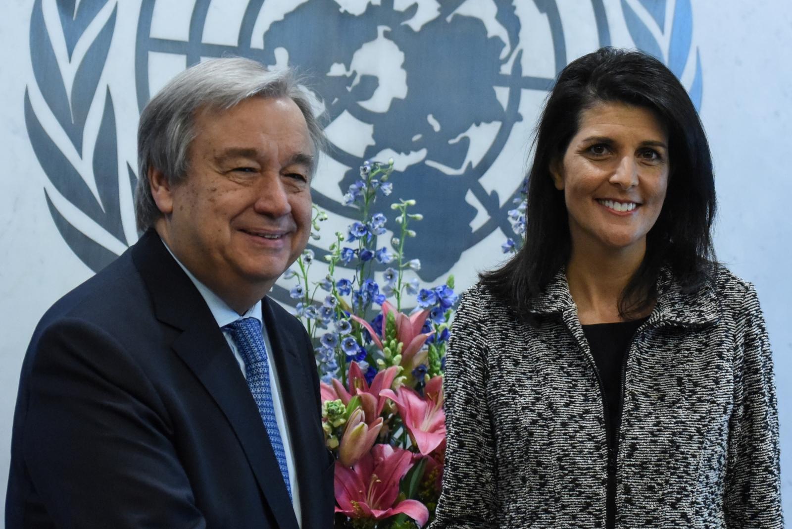 Antonio Guterres, Nikki Haley