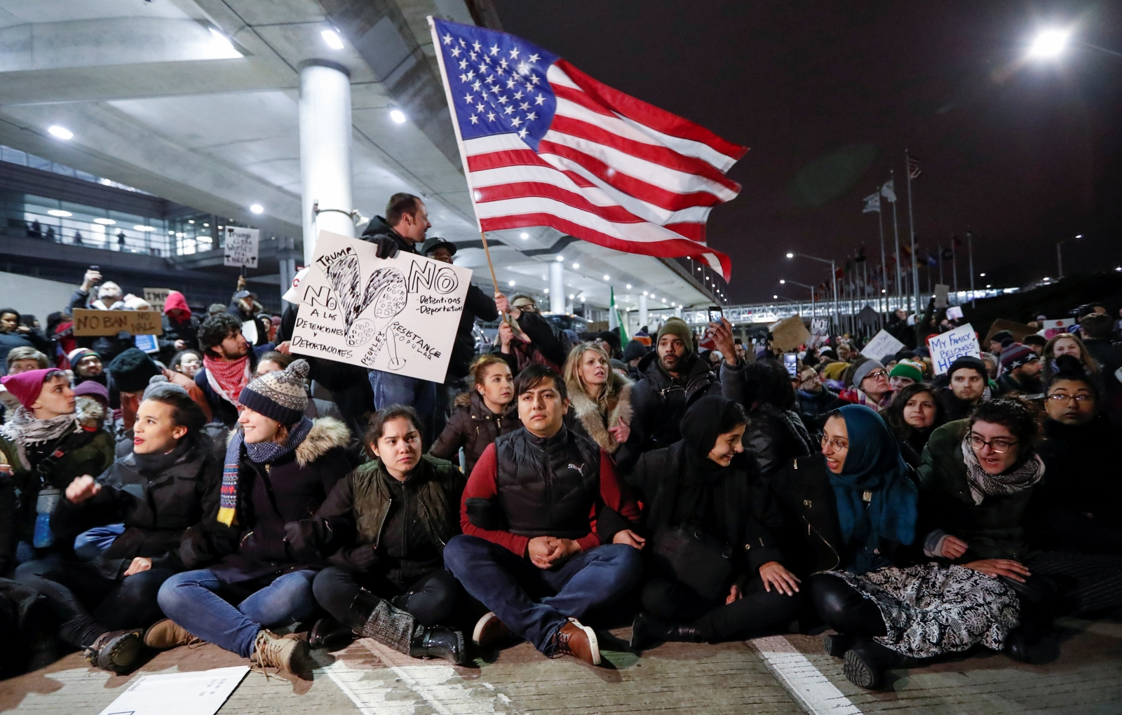 Chicago O'Hare protesters
