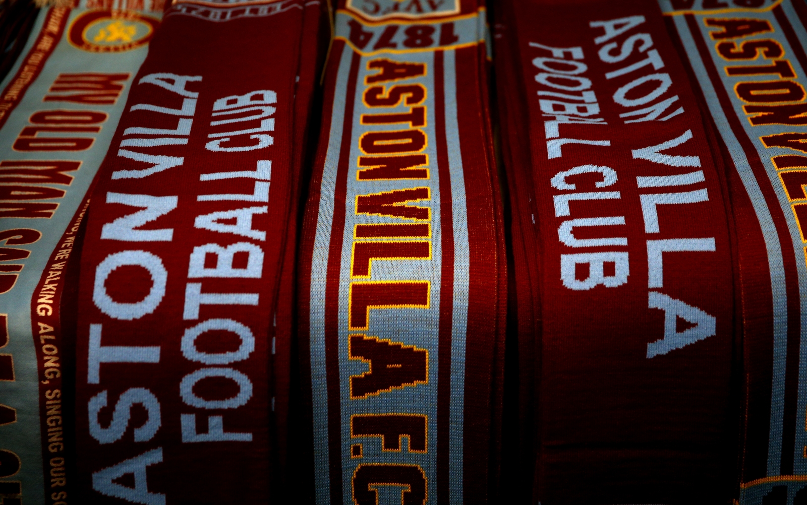 Aston Villa football scarves