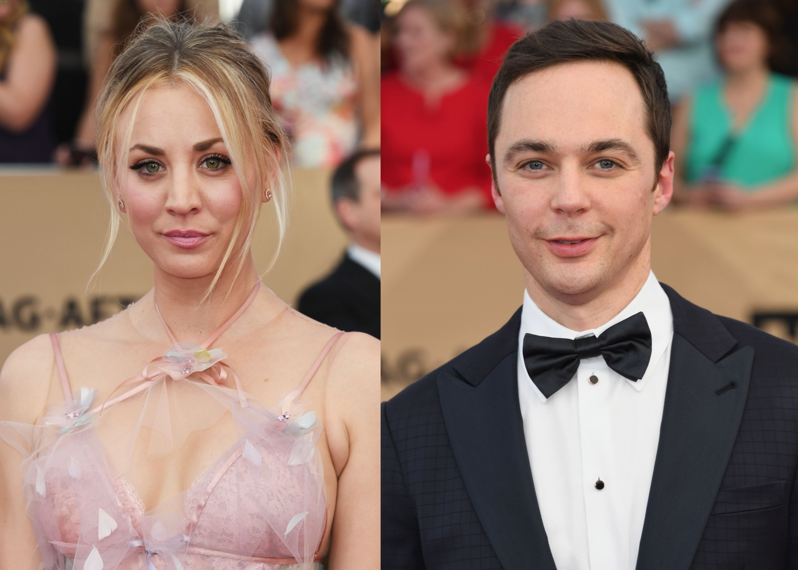 Kaley Cuoco and Jim Parsons