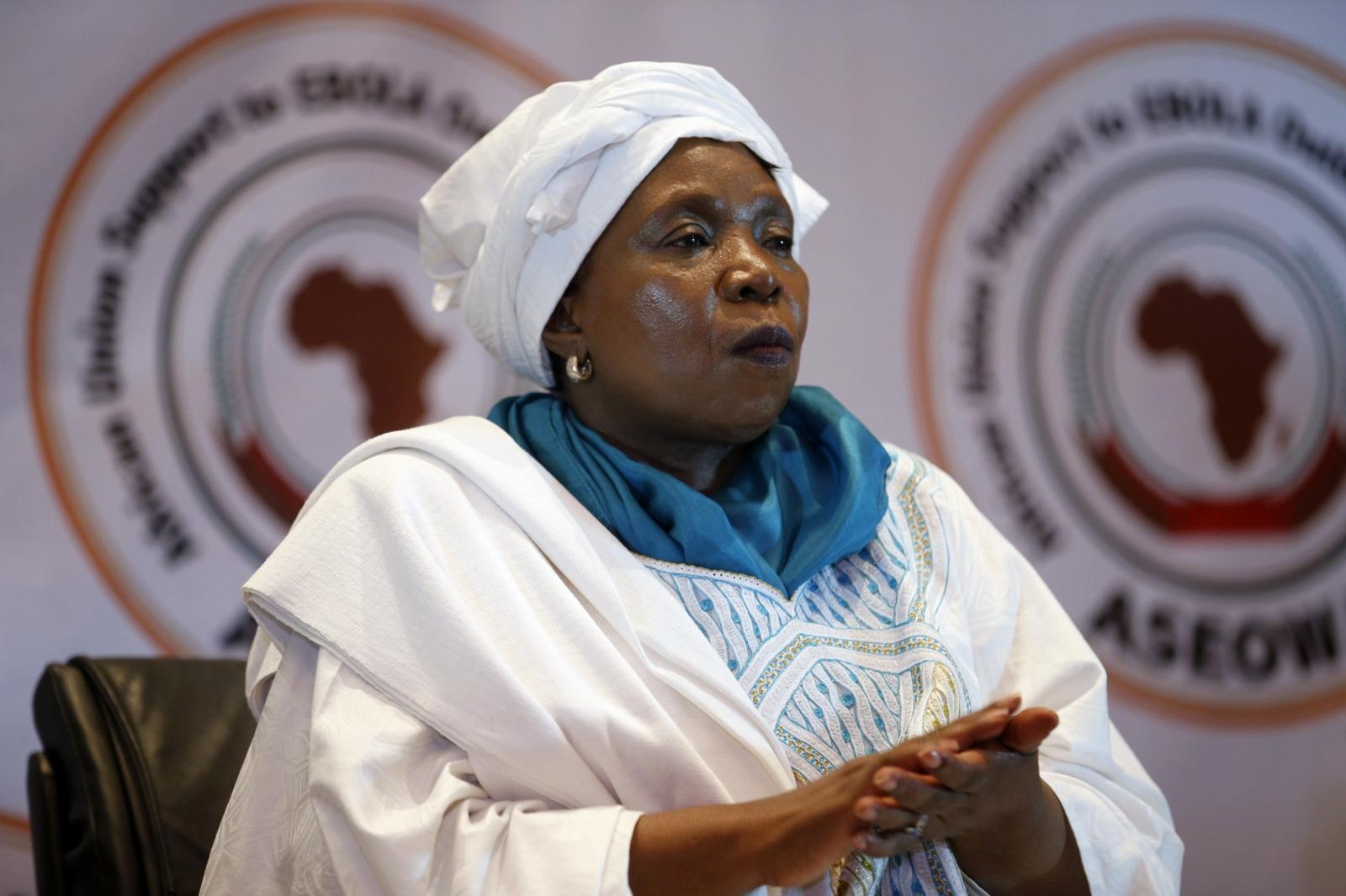 Nkosazana Dlamini-Zuma, the outgoing head of the African Union (AU)
