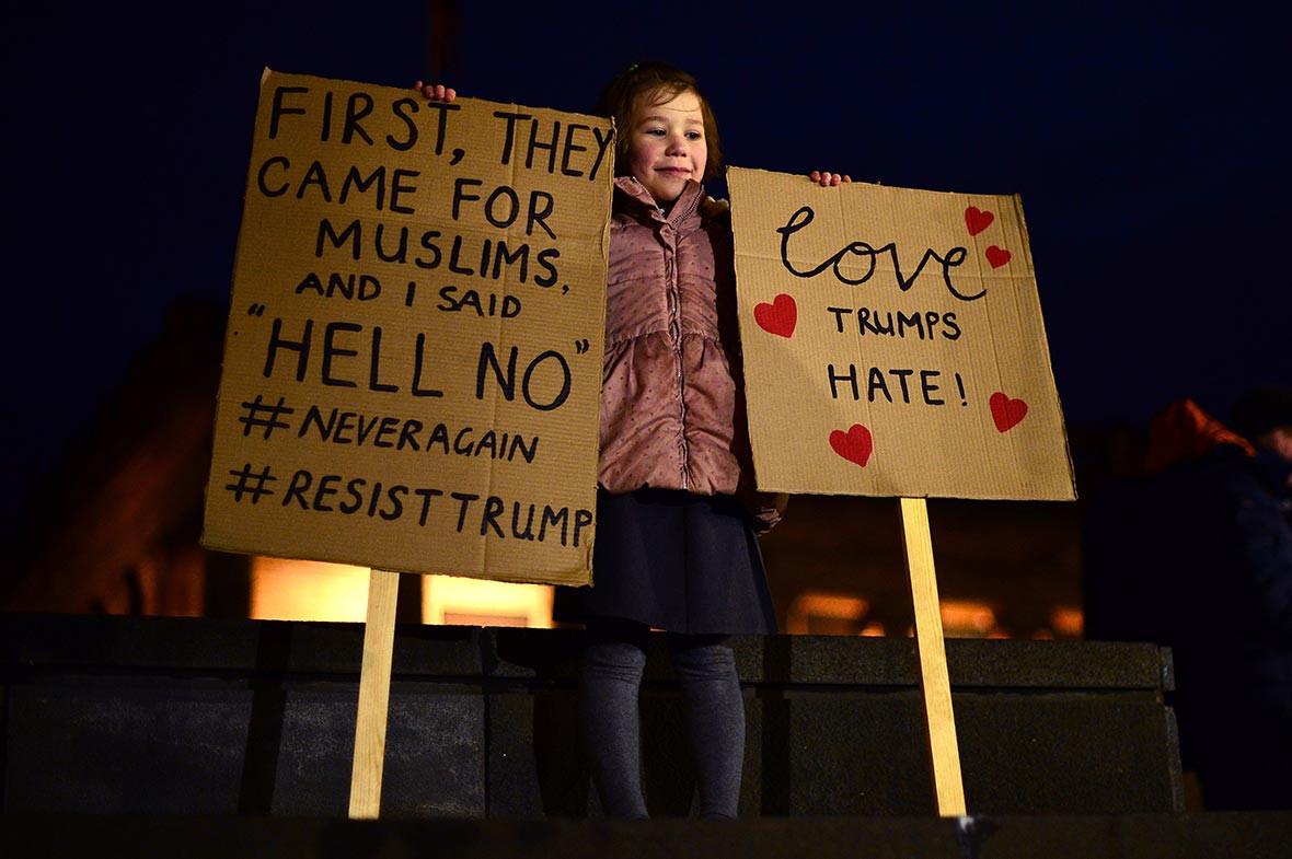 Trump protest Edinburgh