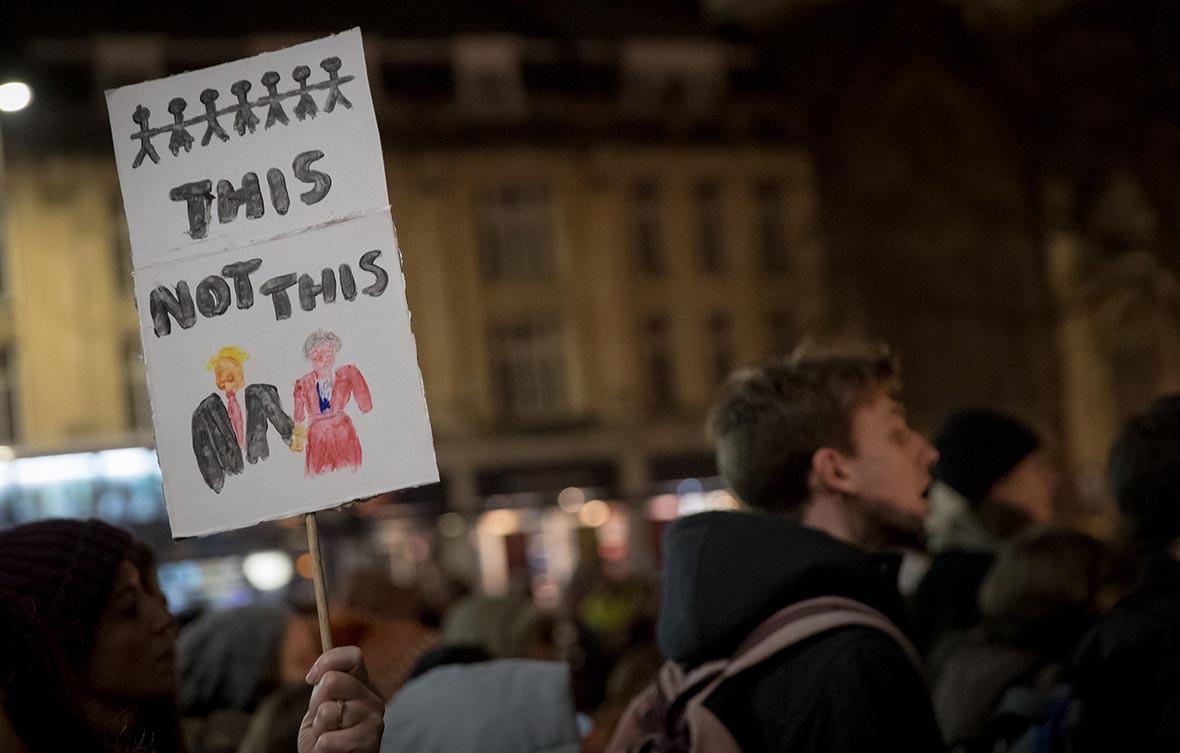 Trump protest Bristol