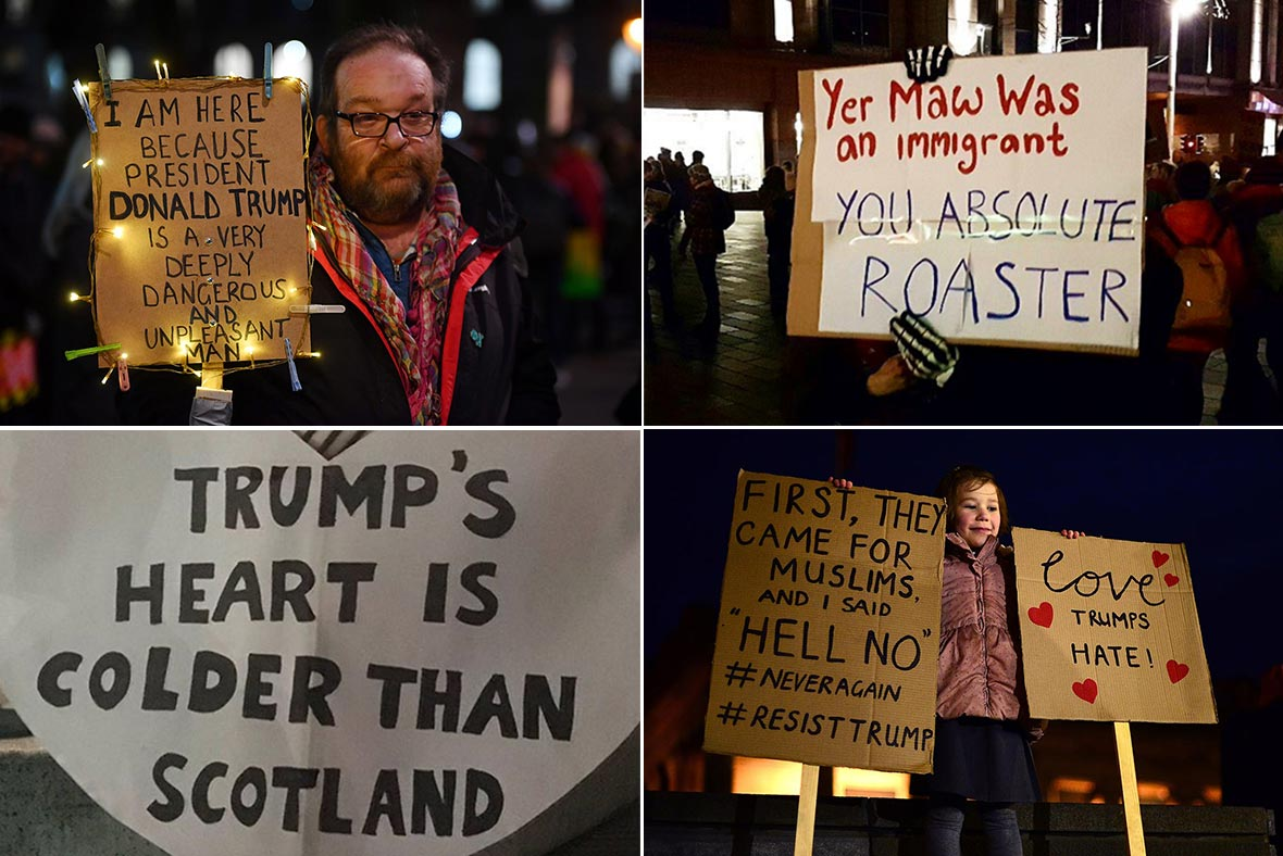 Trump protest UK