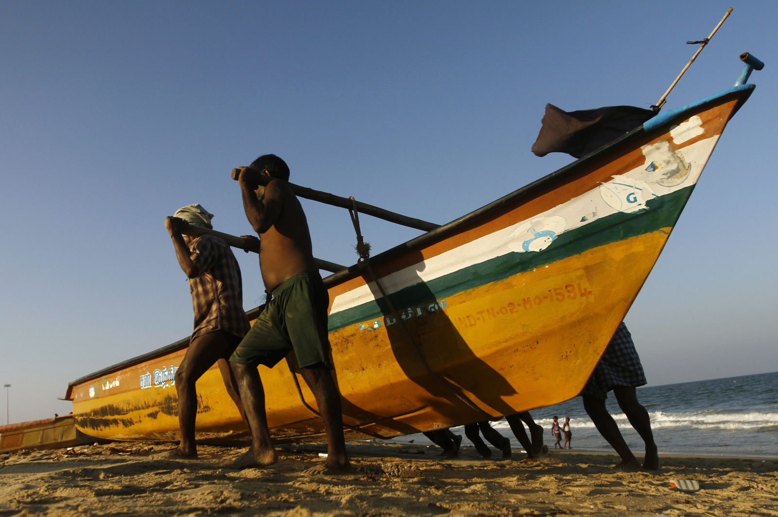 Chennai beach oil spill
