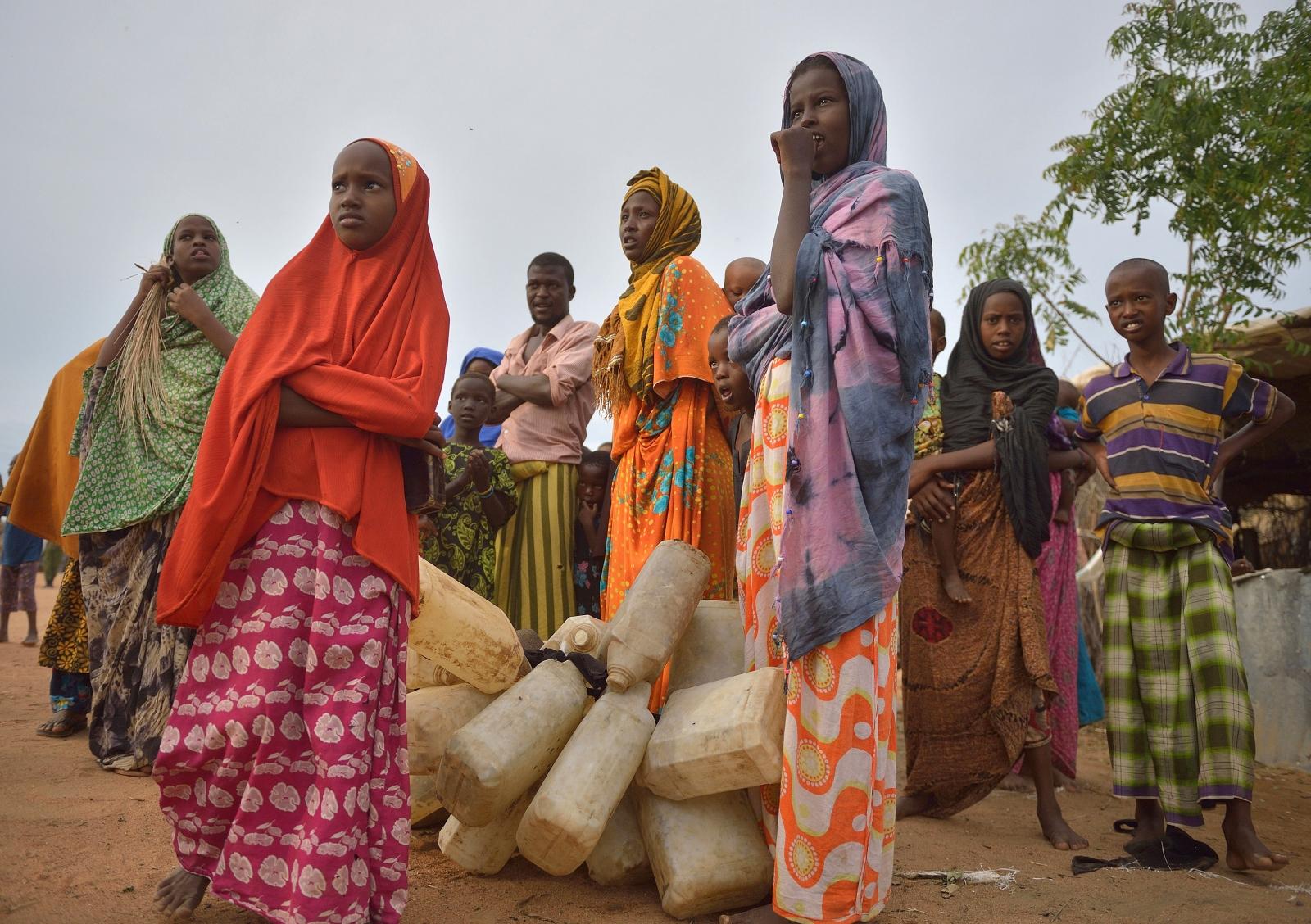 Somali refugees in Dadaab camp