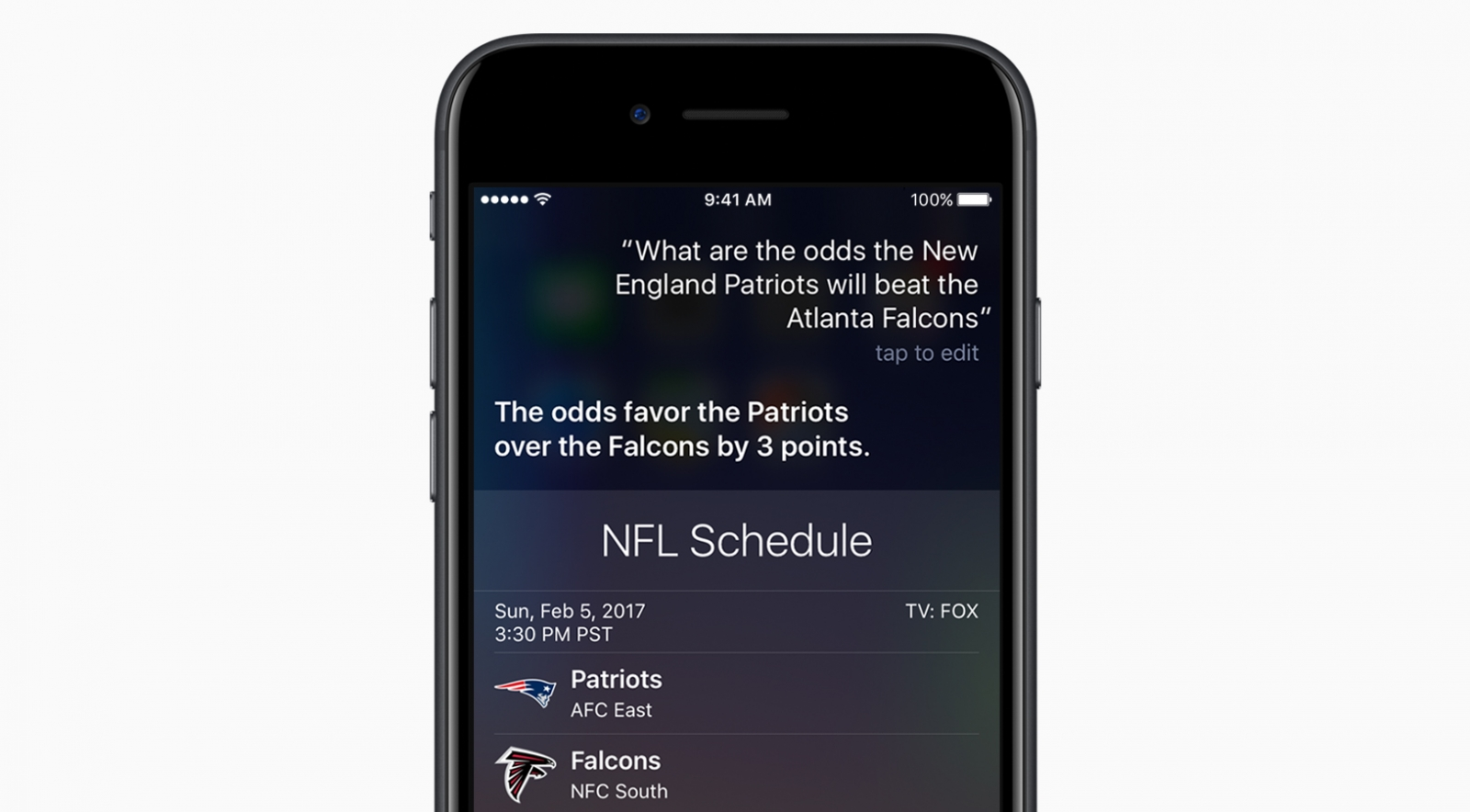 Apple Siri Super Bowl stats