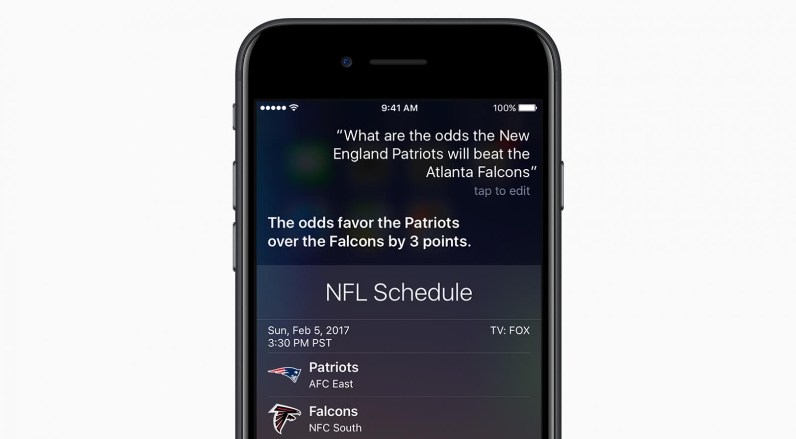 Apple Siri Super Bowl stats