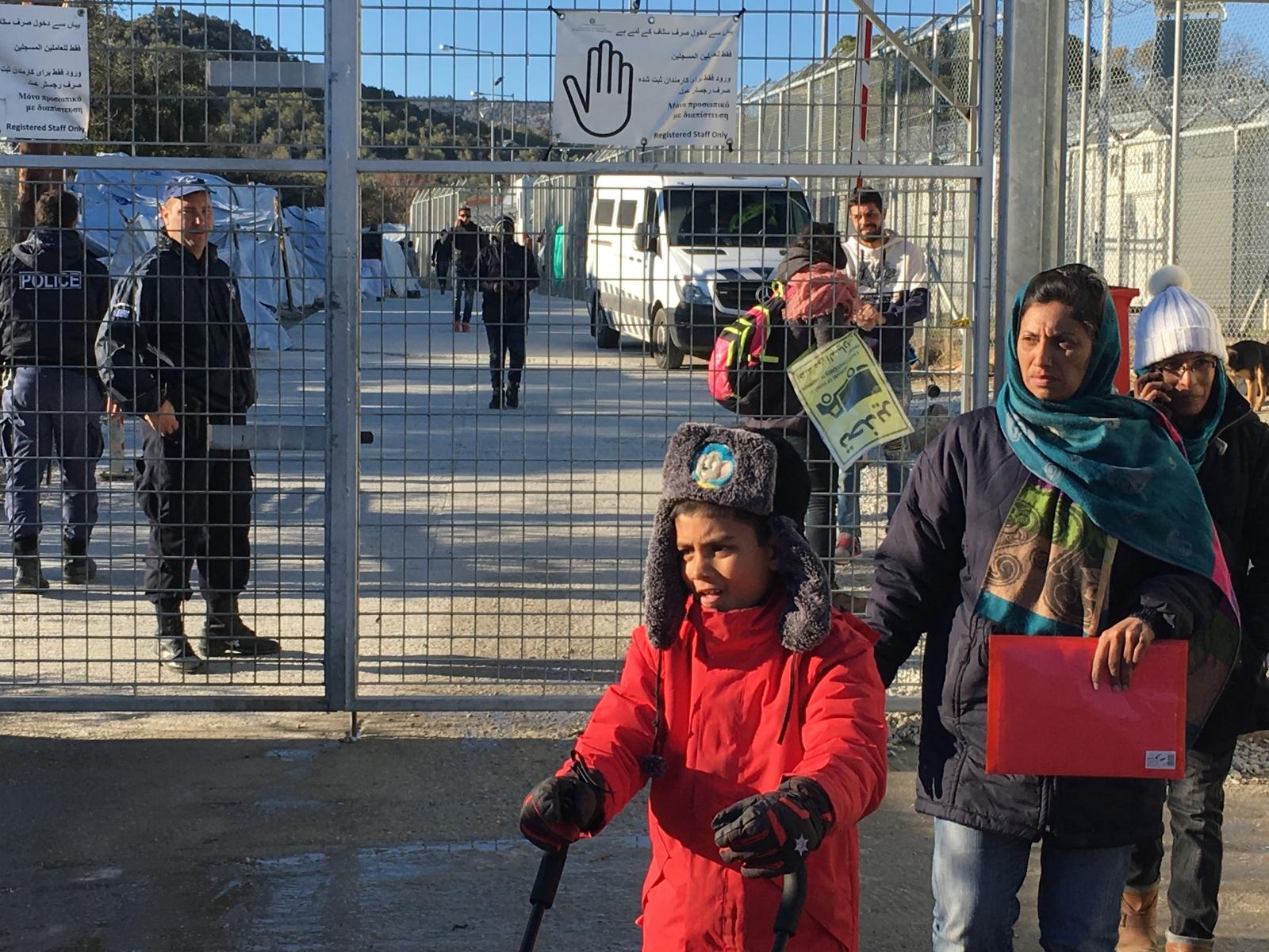 Moria camp Greece Lesbos
