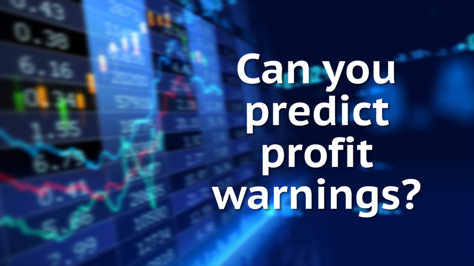 Navigating the profit warning minefield post-BT and Pearson