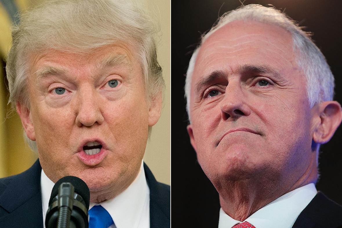 Donald Trump, Malcolm Turnbull