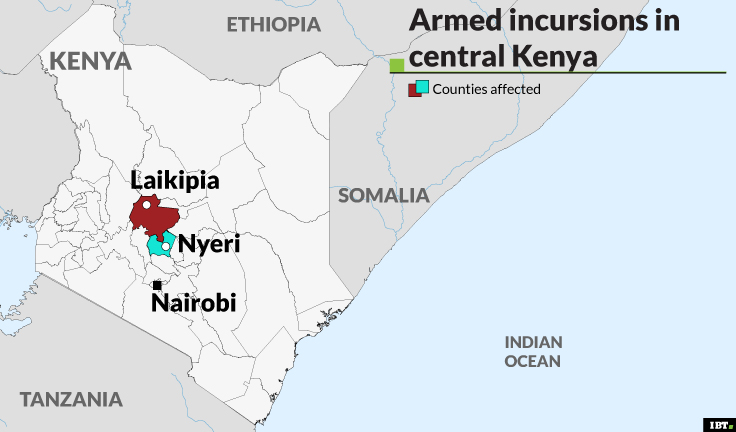 Armed incursions in central Kenya