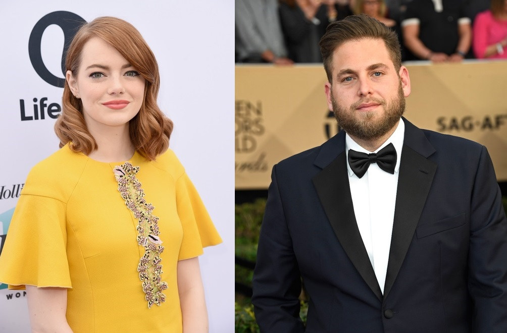 Emma Stone and Jonah Hill