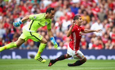 Claudio Bravo and Henrikh Mkhitaryan