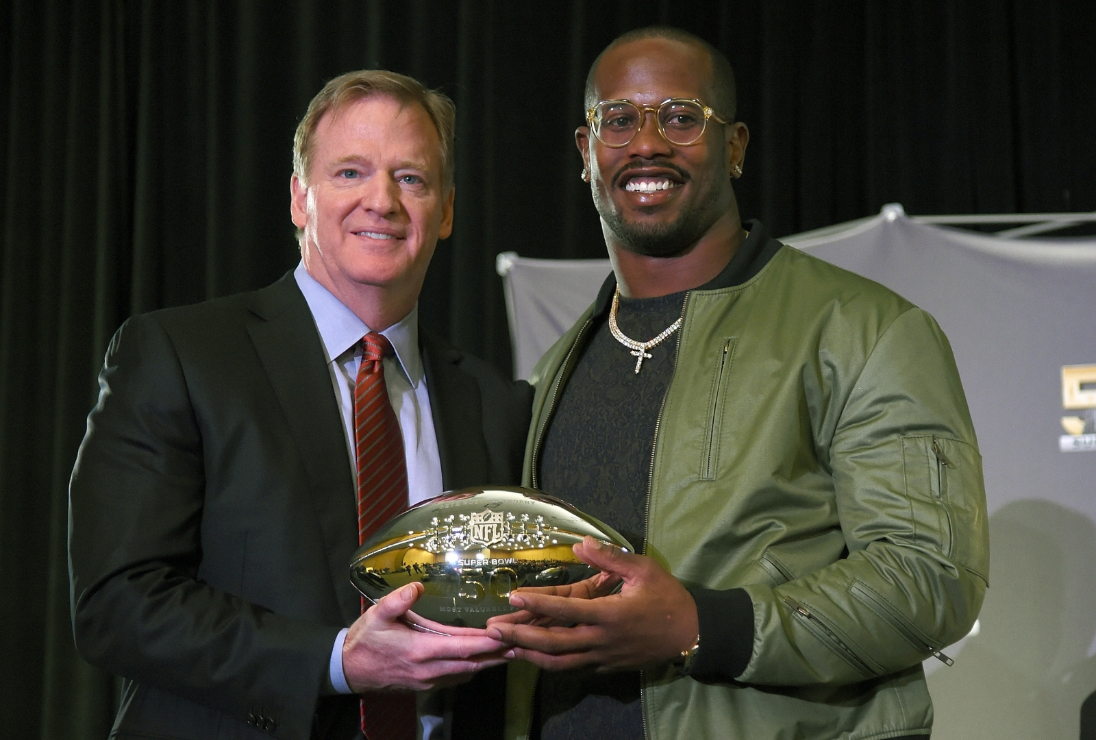 Roger Goodell and Von Miller