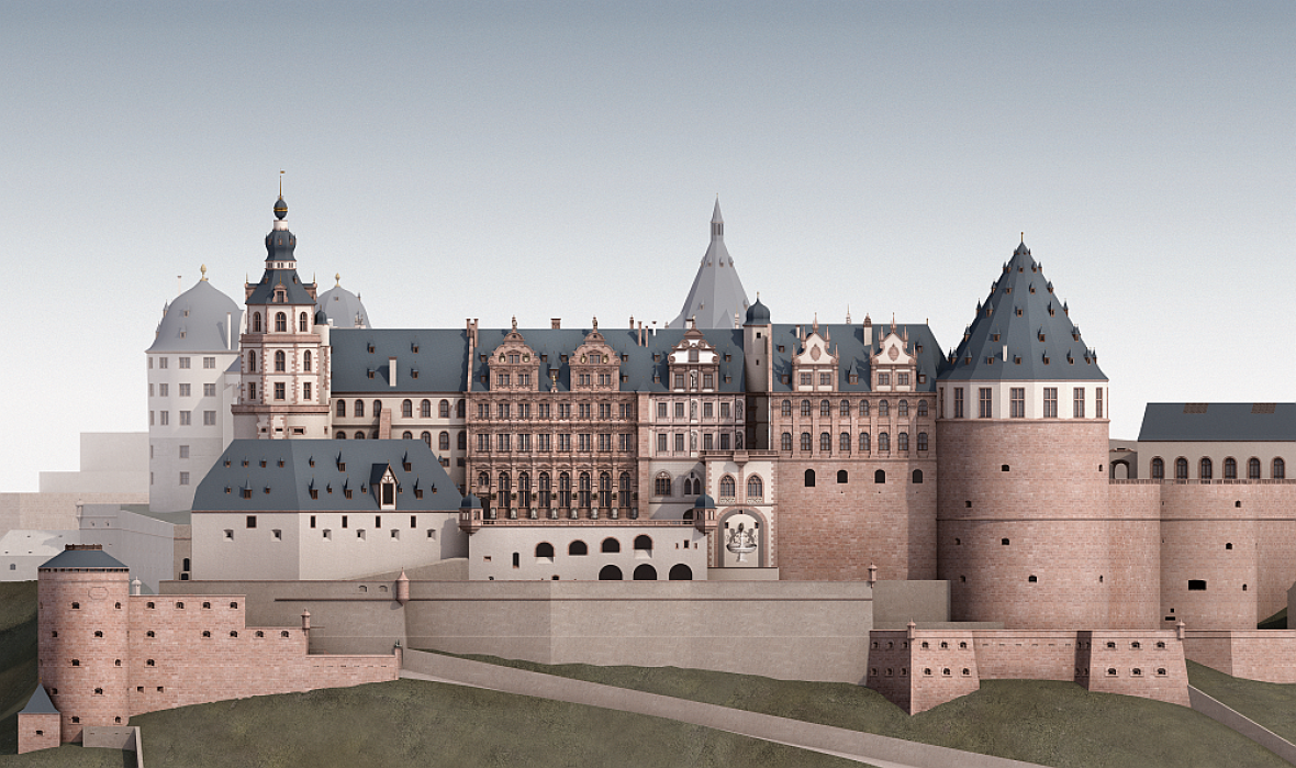 24fdb94600 Heidelberg Castle digitally reconstructed to its 17th century glory